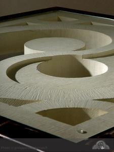 Table basse en pierre taill e yin yang sculpteur cr ateur for Table yin yang basse